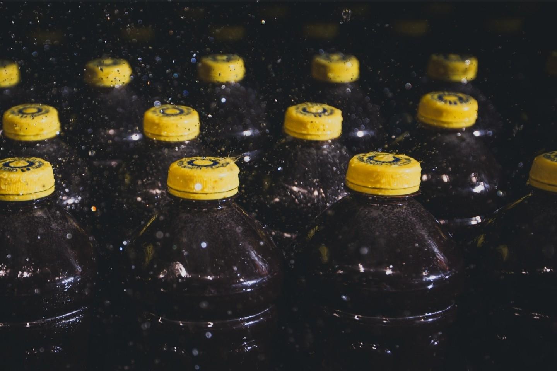 Bottling production line.